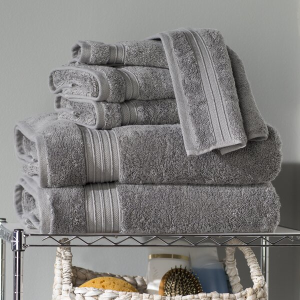 Clarke 6 Piece 100% Cotton Towel Set by The Twillery Co.
